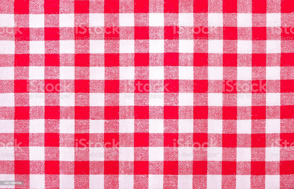 red and white tablecloth  texture wallpaper stock photo