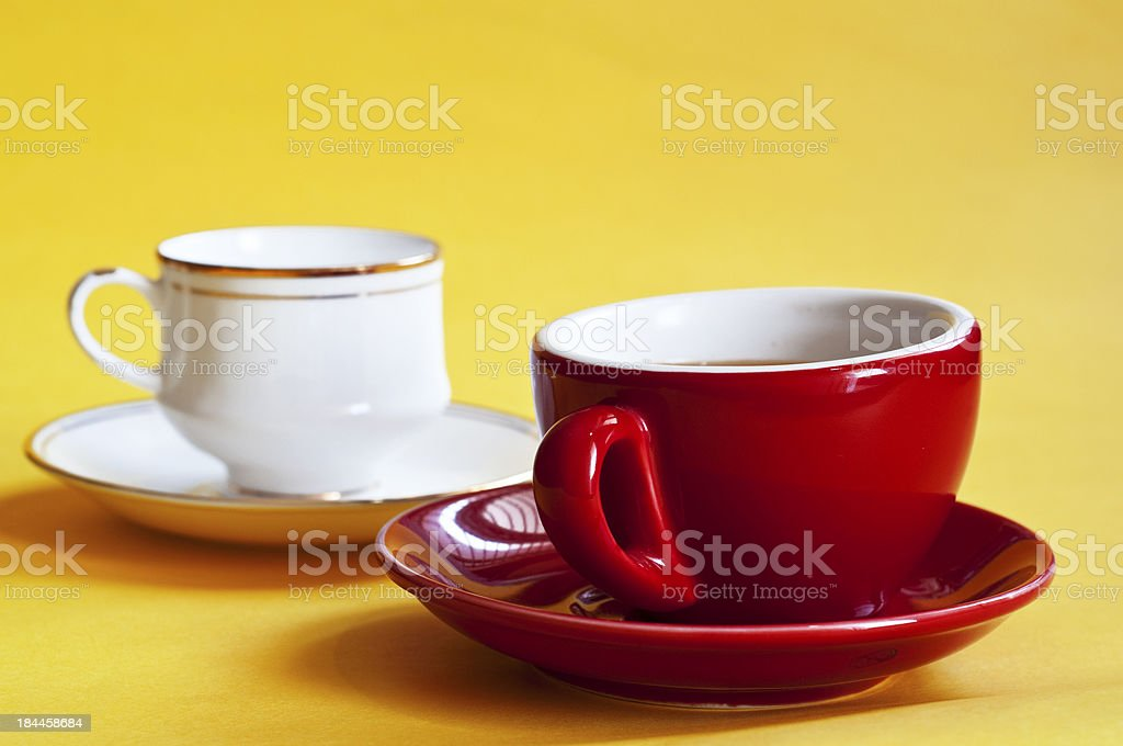 Red and white tea cup royalty-free stock photo