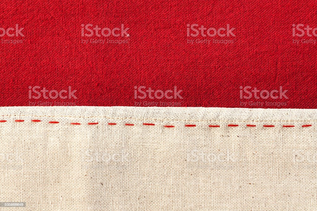 Red and white Thai fabric texture royalty-free stock photo