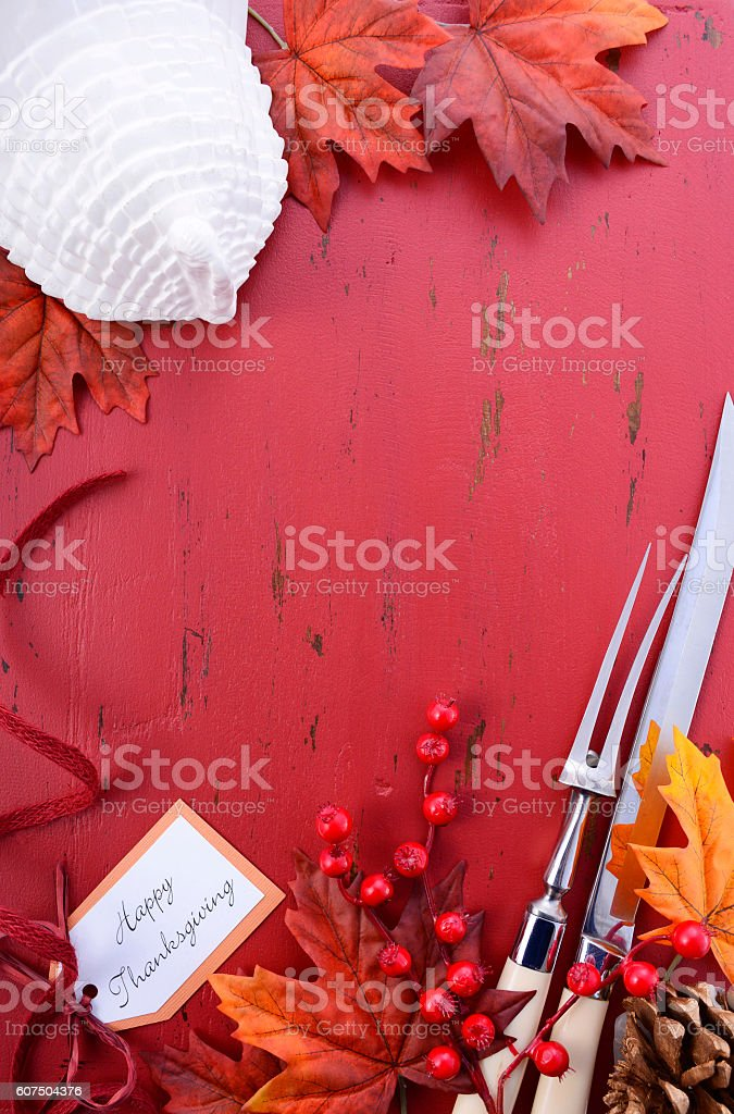 Red and White theme Thanksgiving Background. stock photo