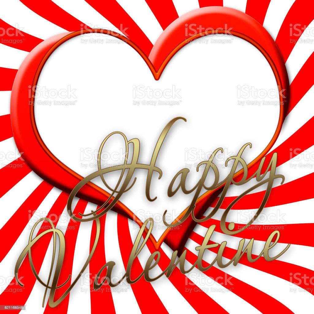 Red and white twirl background, 2 hearts on one another, white background and copy space for your text message. stock photo