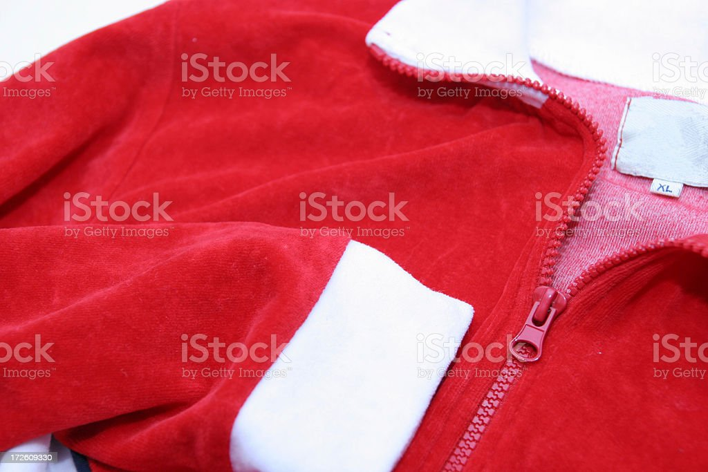 Red and white velvet sweatshirt royalty-free stock photo