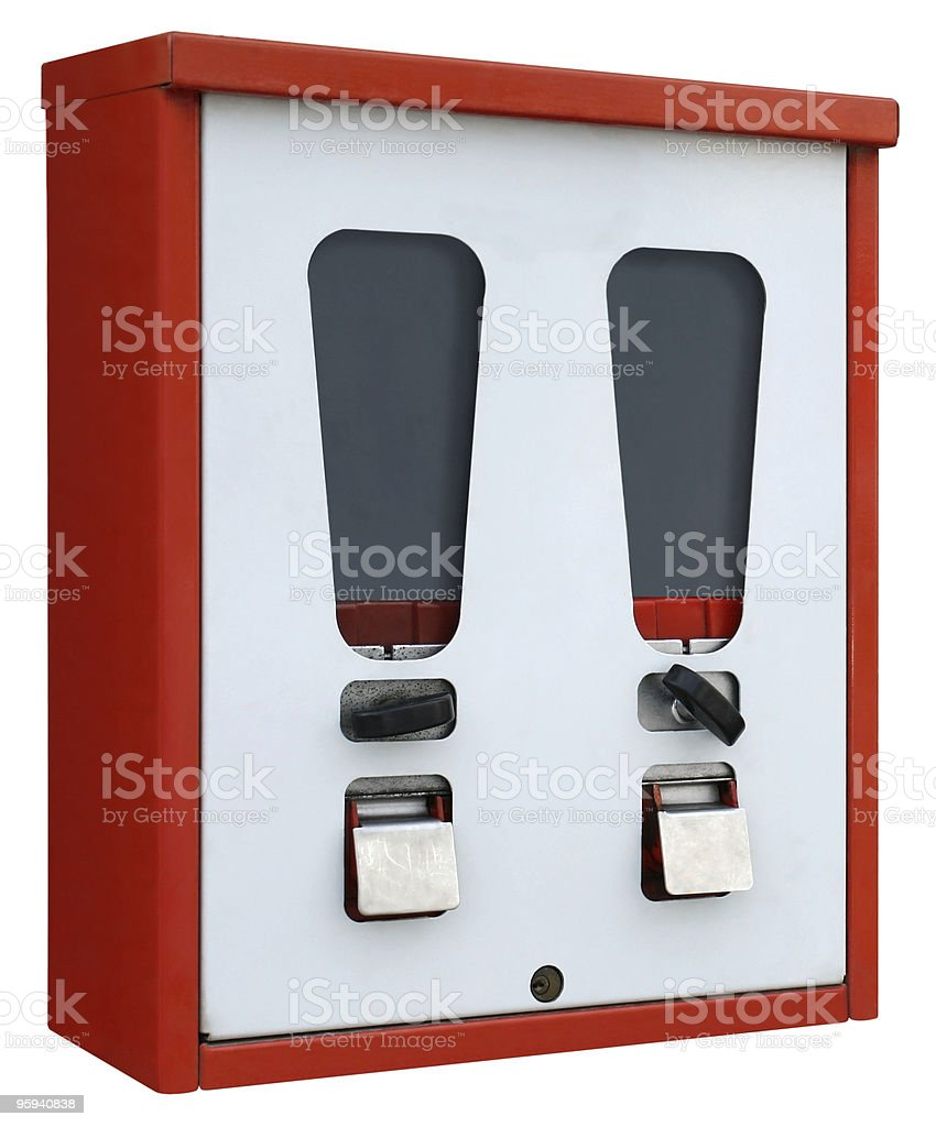 red and white vending machine royalty-free stock photo