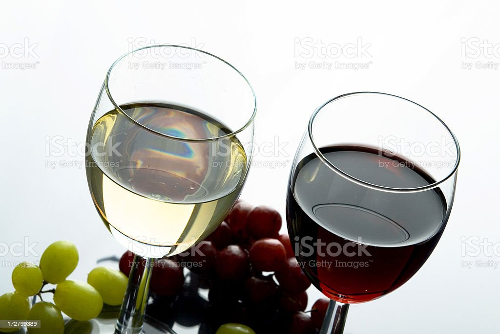 Red and white wine royalty-free stock photo