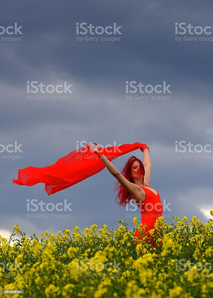 Red and Windy three stock photo