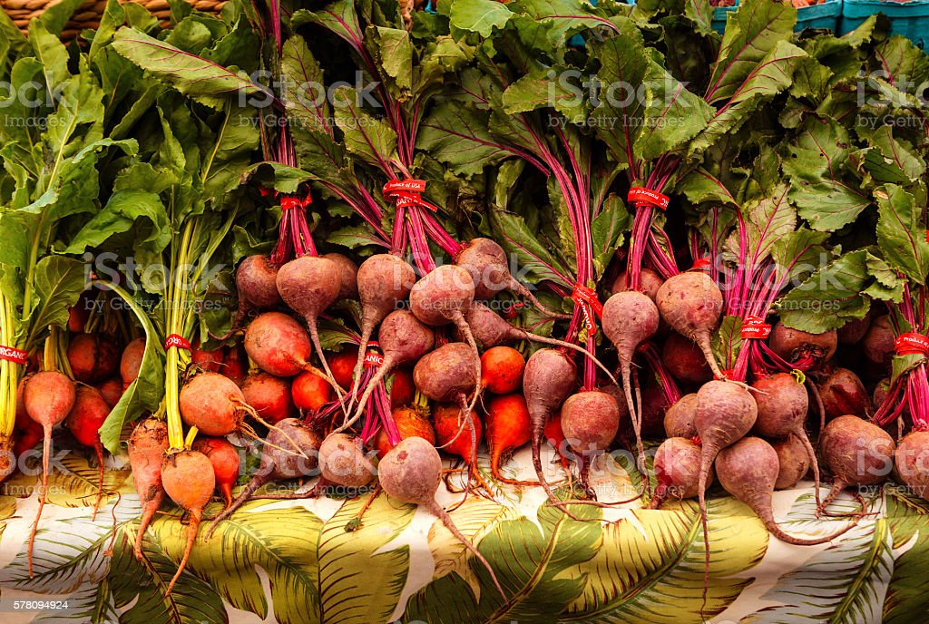 Red and Yellow Beets stock photo