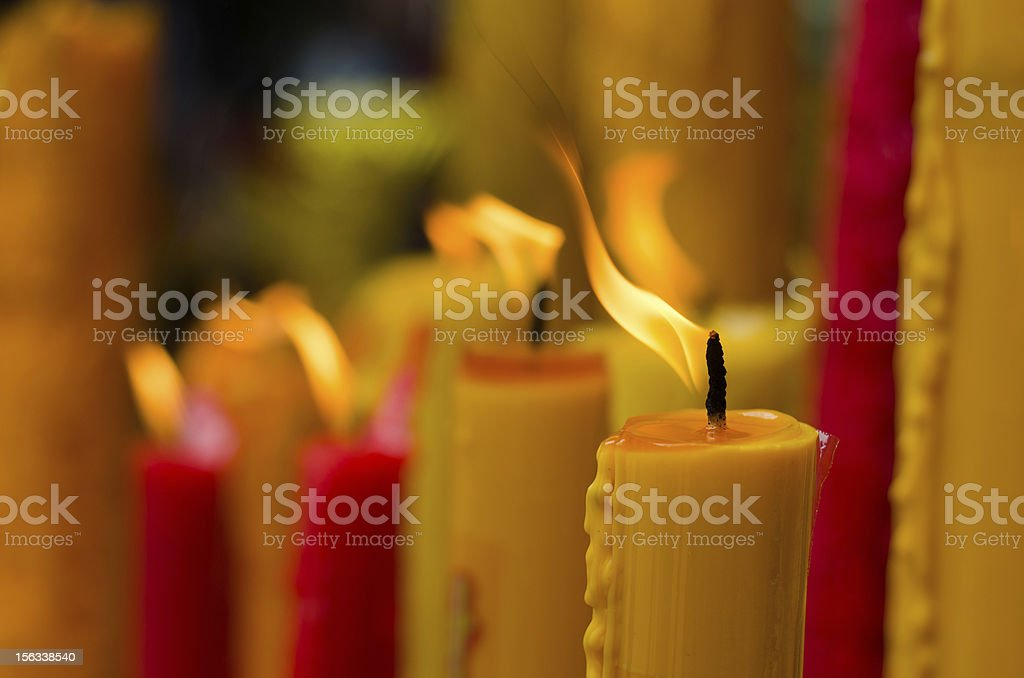Red and Yellow candle royalty-free stock photo