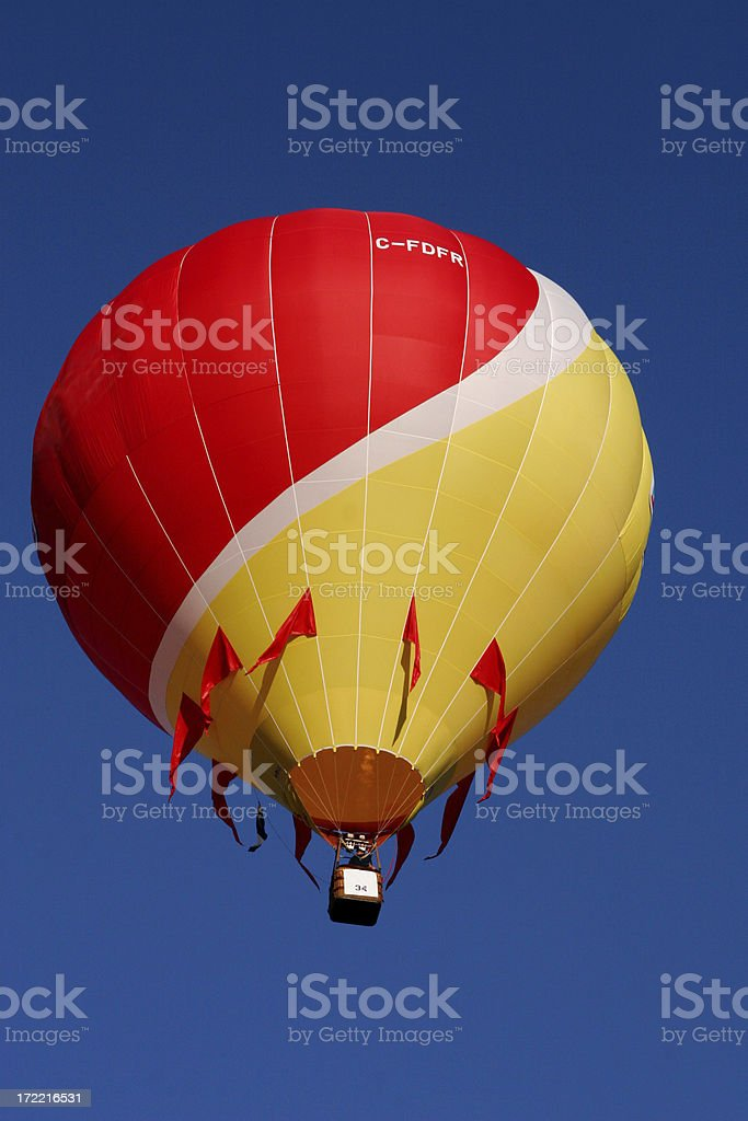 Red and Yellow Hot Air Balloon royalty-free stock photo