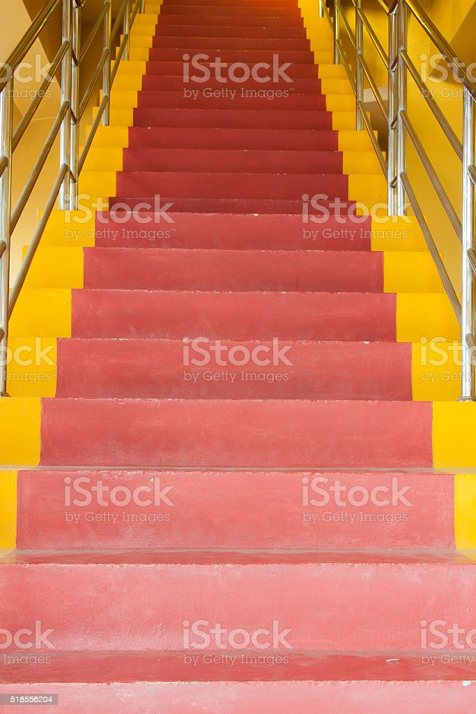 Red and yellow ladder royalty-free stock photo