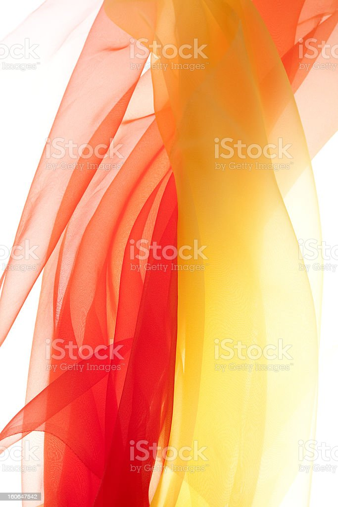 Red and Yellow  organdy royalty-free stock photo