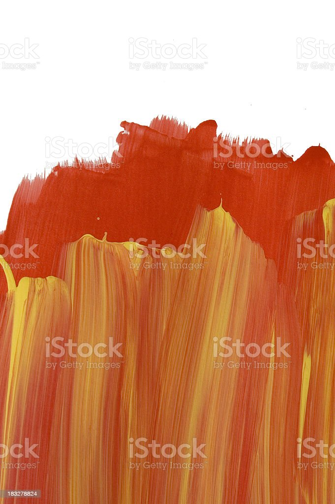 Red and yellow painted grunge abstract royalty-free stock photo