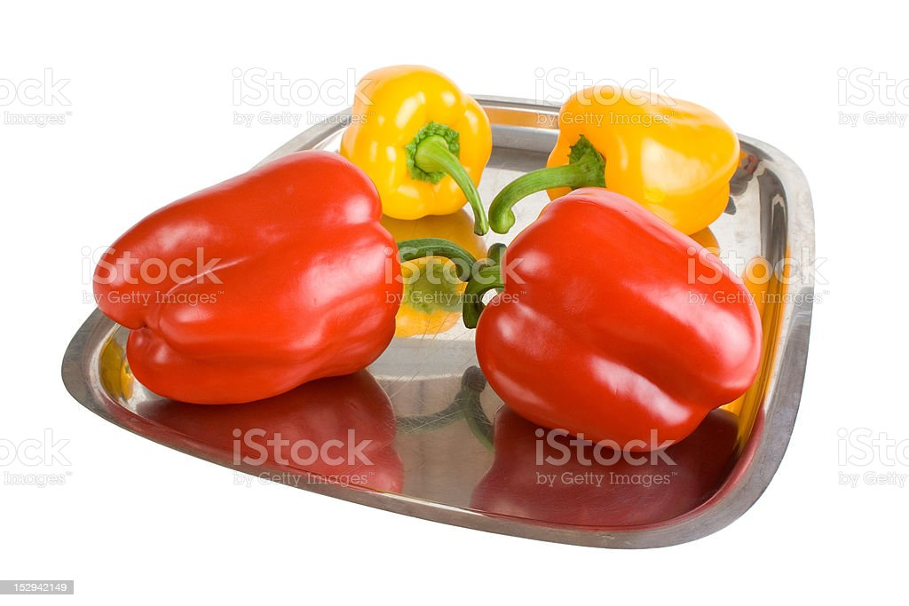 Red and yellow paprika royalty-free stock photo