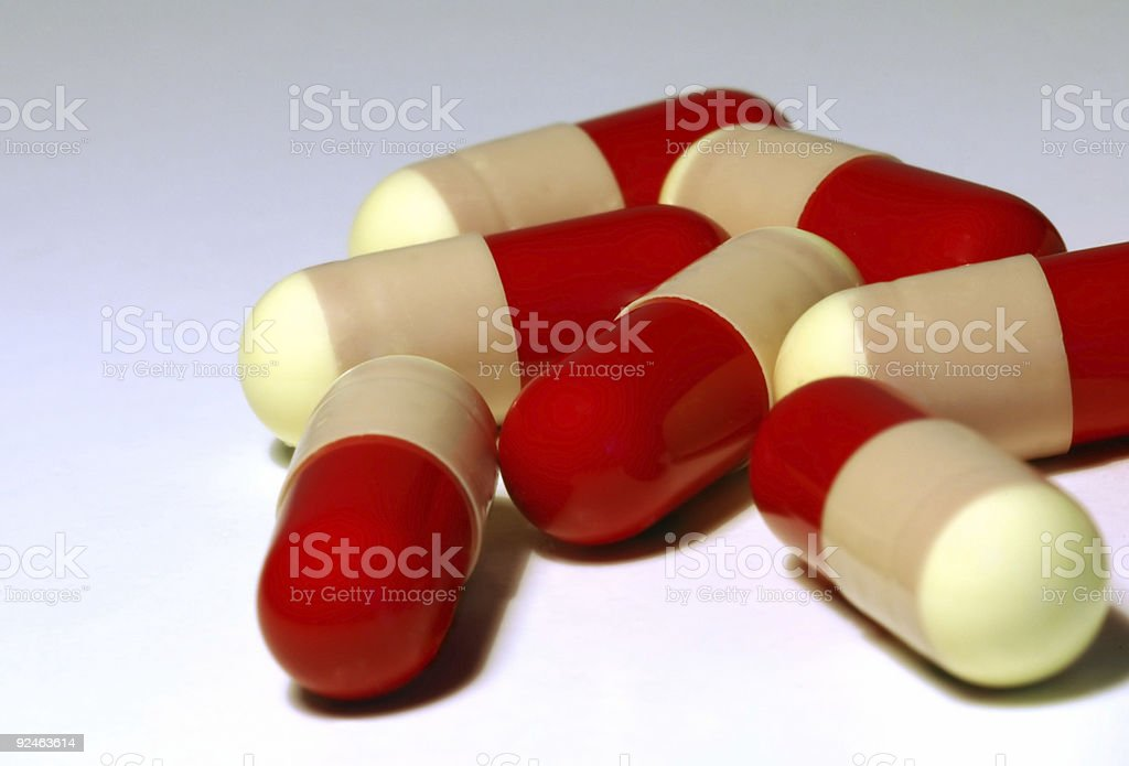 Red and Yellow Pills royalty-free stock photo