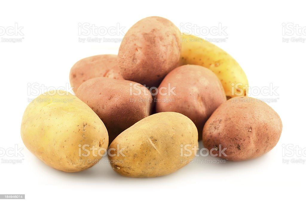 red and yellow potatos royalty-free stock photo