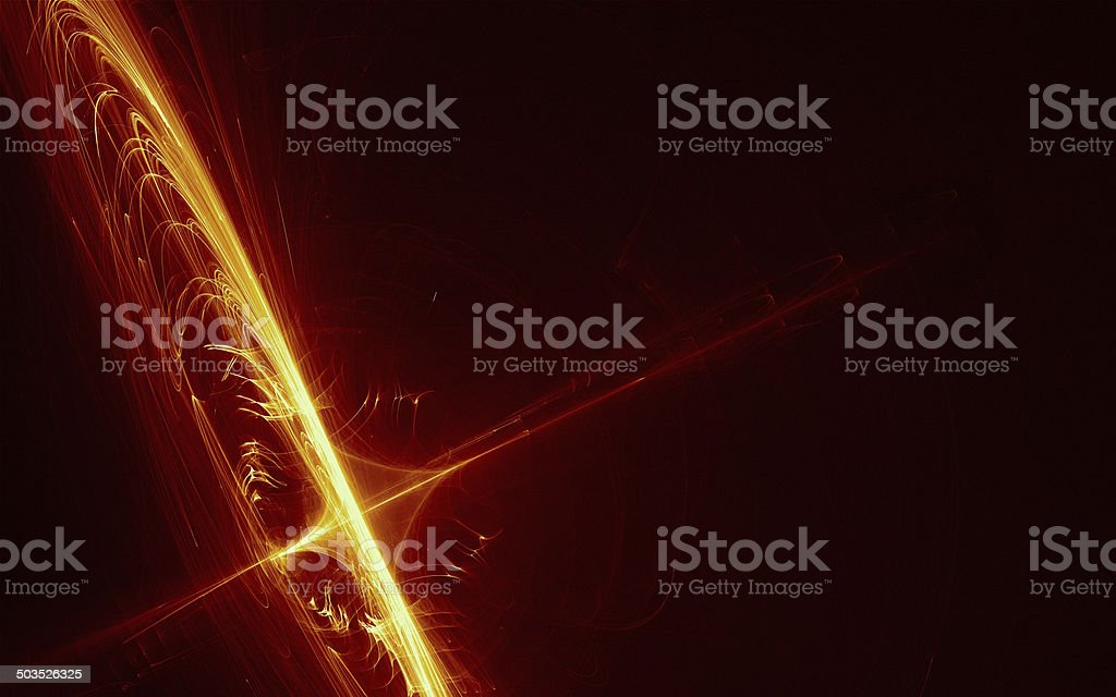 Red and yellow rounded sparks stock photo