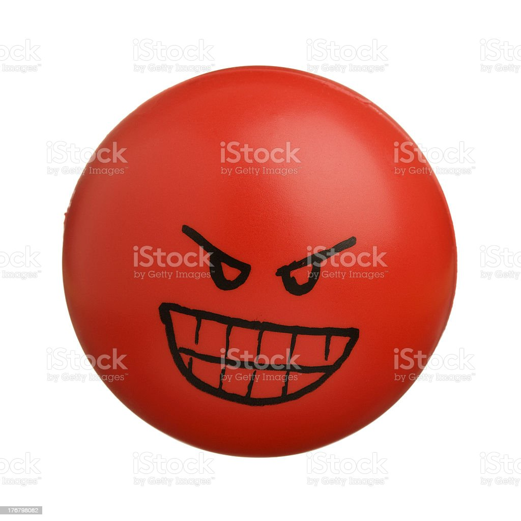 Red angry face stock photo