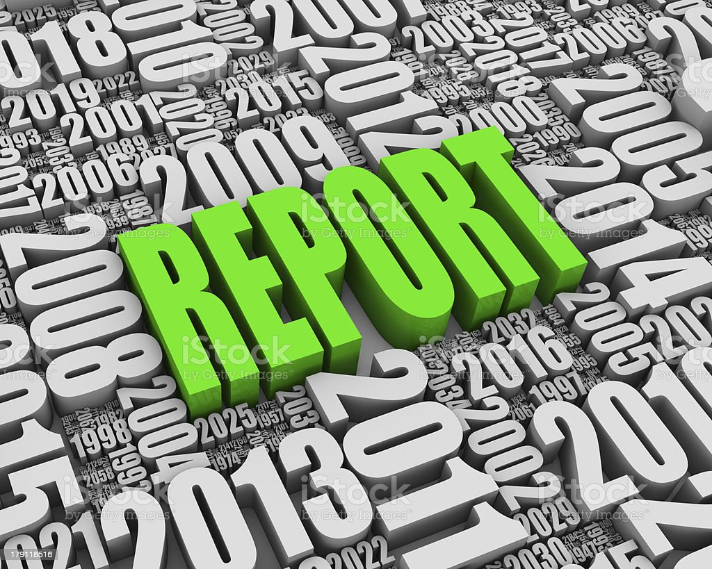 Red Annual Report royalty-free stock photo