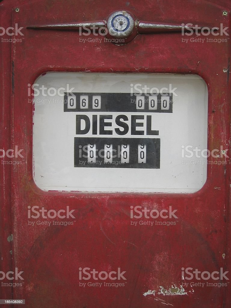 Red antique gas pump - Close up..::Series:.. royalty-free stock photo