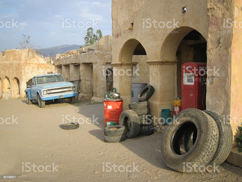 Red antique gas pump ..::Series:.. royalty-free stock photo