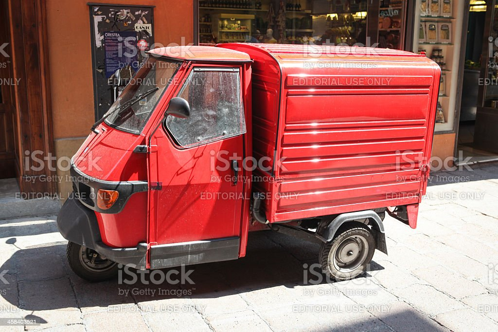Red Ape Van in Bologna, Italy stock photo