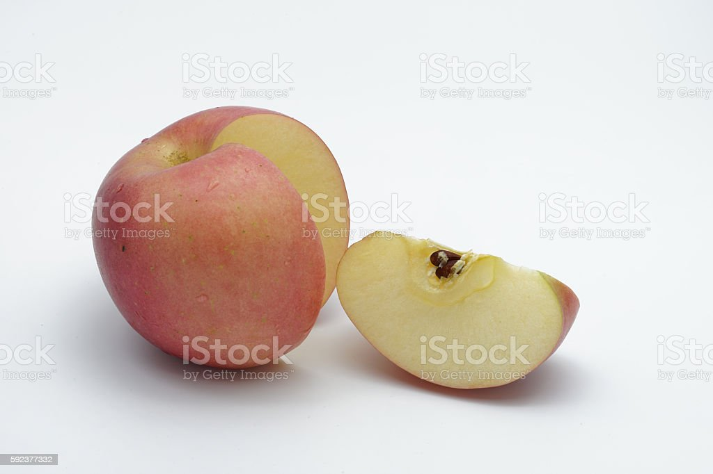 Red apple and slice royalty-free stock photo