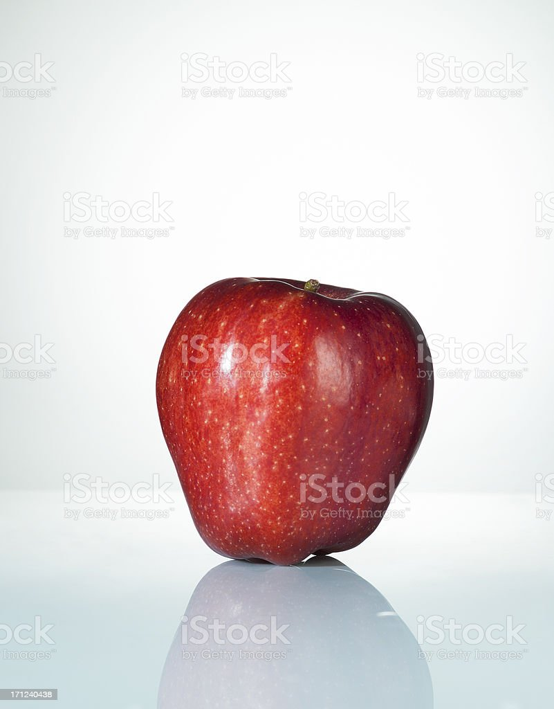 Red Apple. Close Up. stock photo
