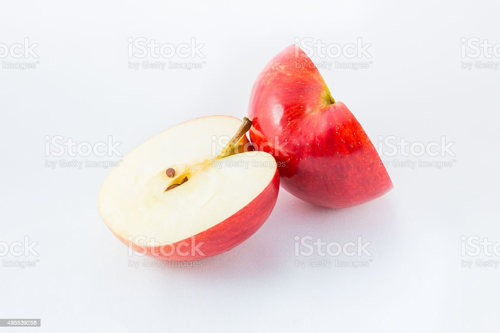 Red apple cutout. stock photo