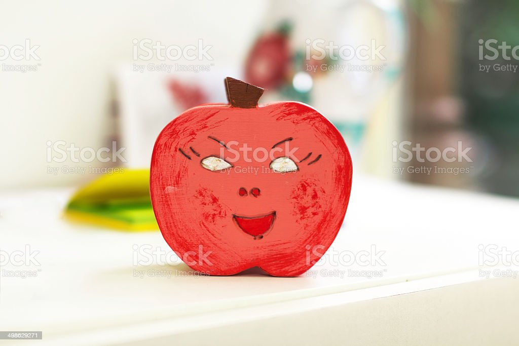 Red apple decoration in kindergarten royalty-free stock photo