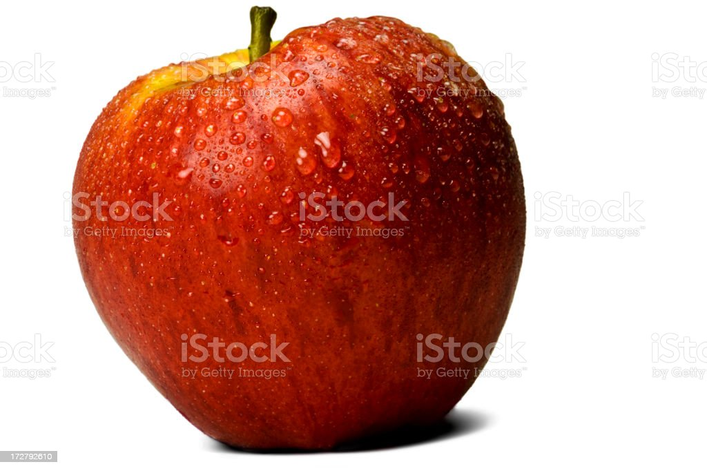 Red apple dew drops XXL+ royalty-free stock photo