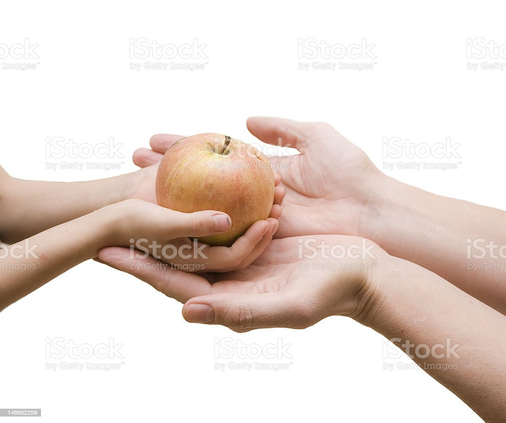 Red apple for father royalty-free stock photo