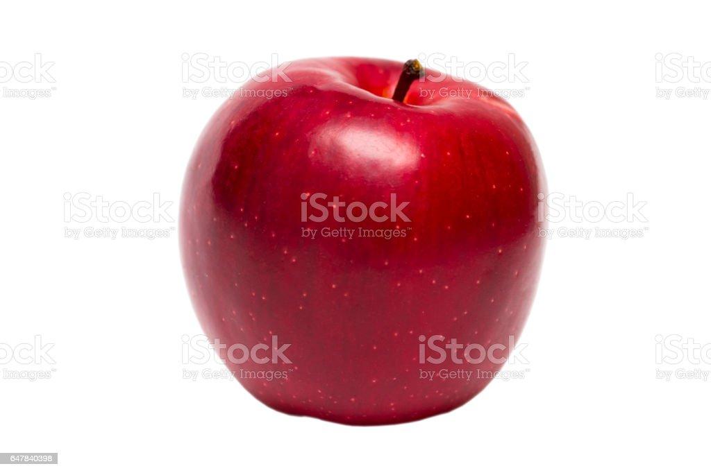 Red apple fruit isolated on white background stock photo