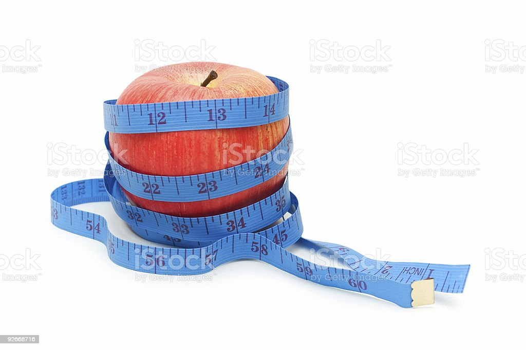 Red apple illustrating fruit dieting concept royalty-free stock photo