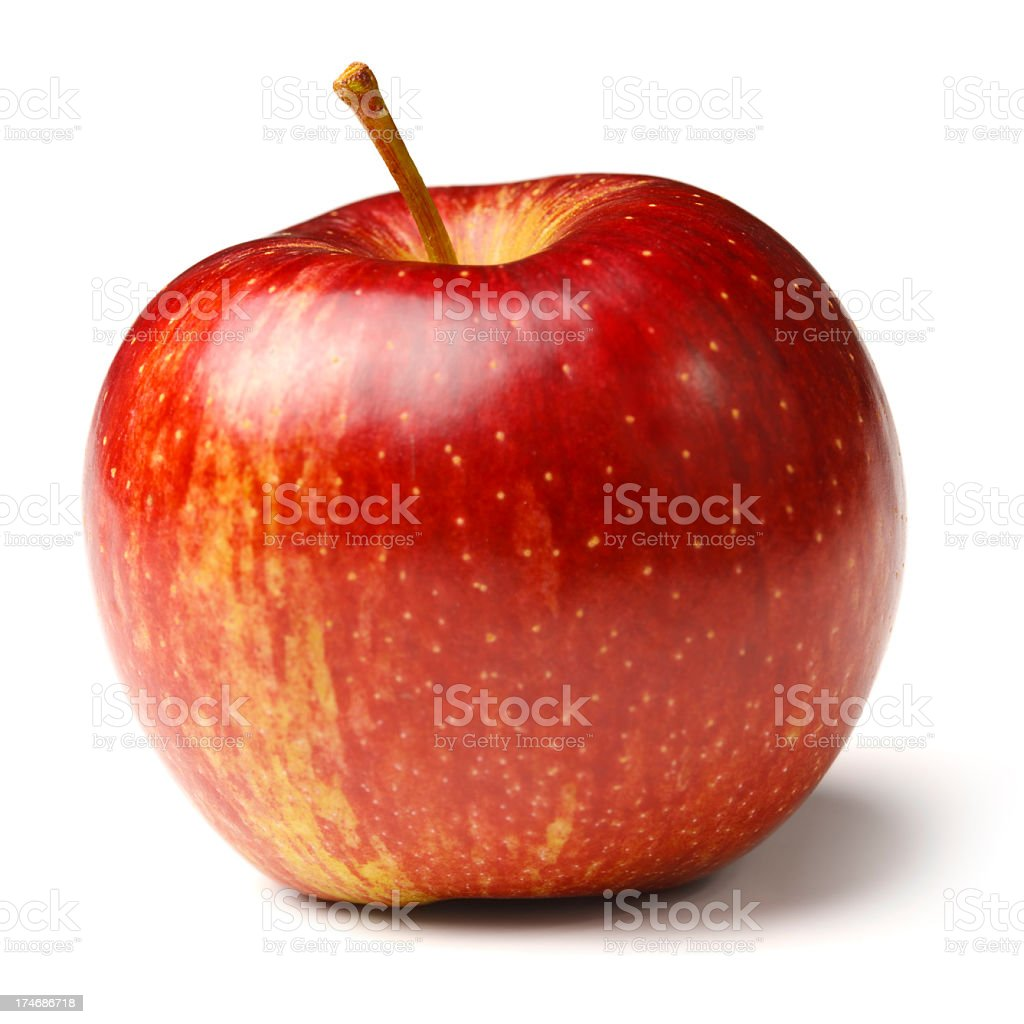 Red Apple Isolated on White + Clipping Path stock photo
