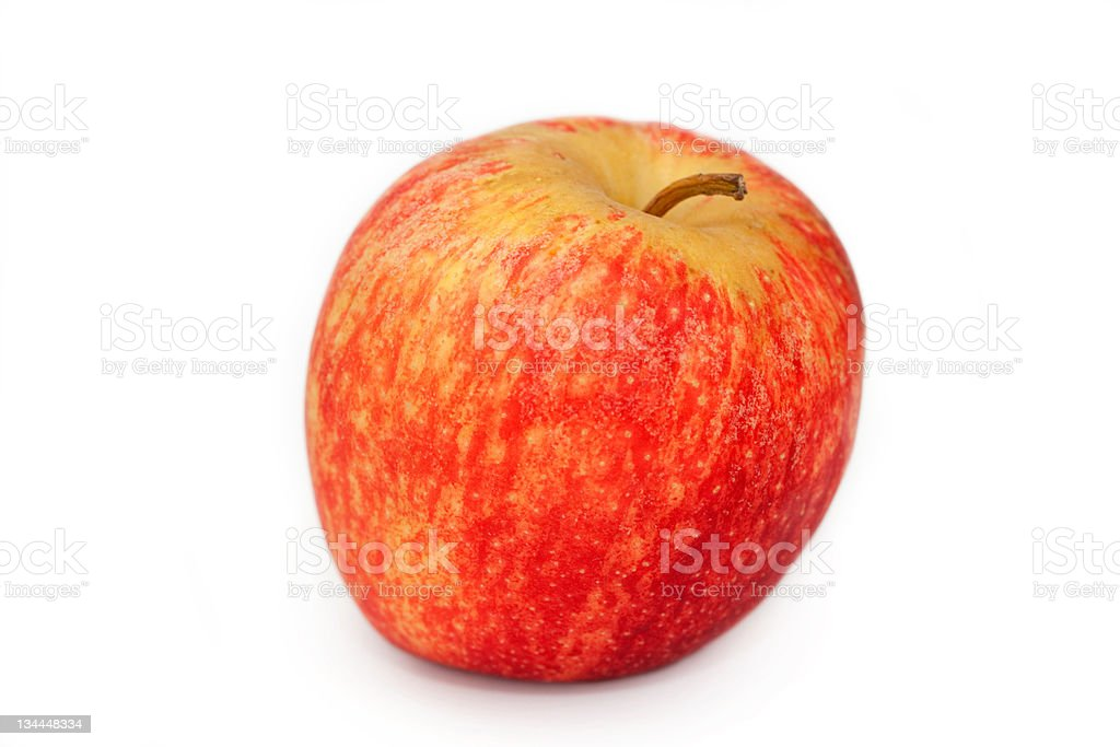 Red Apple Isolated on White royalty-free stock photo