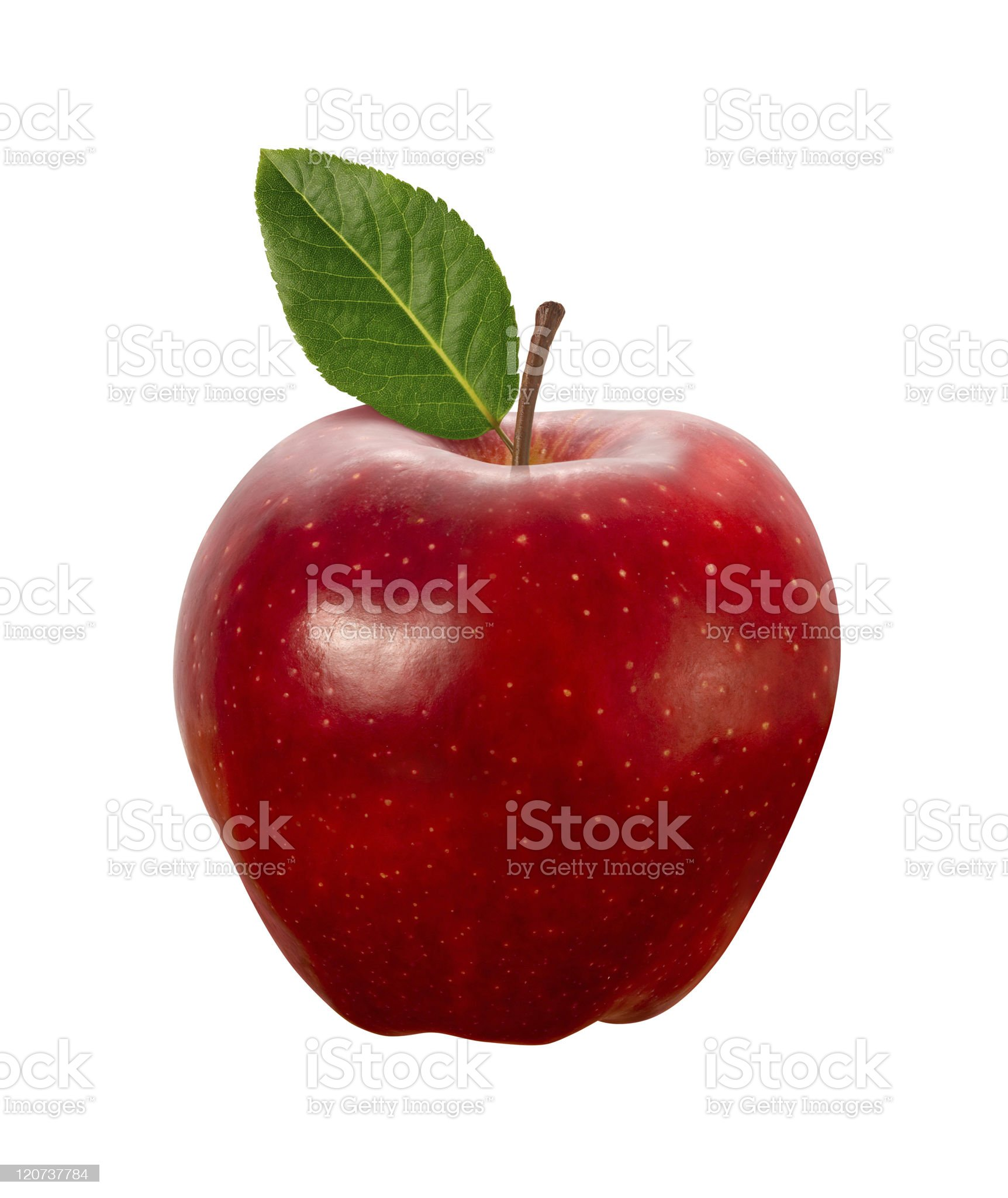 Red Apple isolated with clipping path royalty-free stock photo