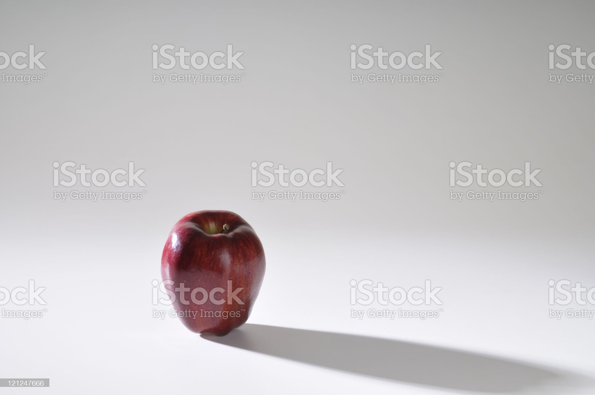 Red Apple long shadow royalty-free stock photo