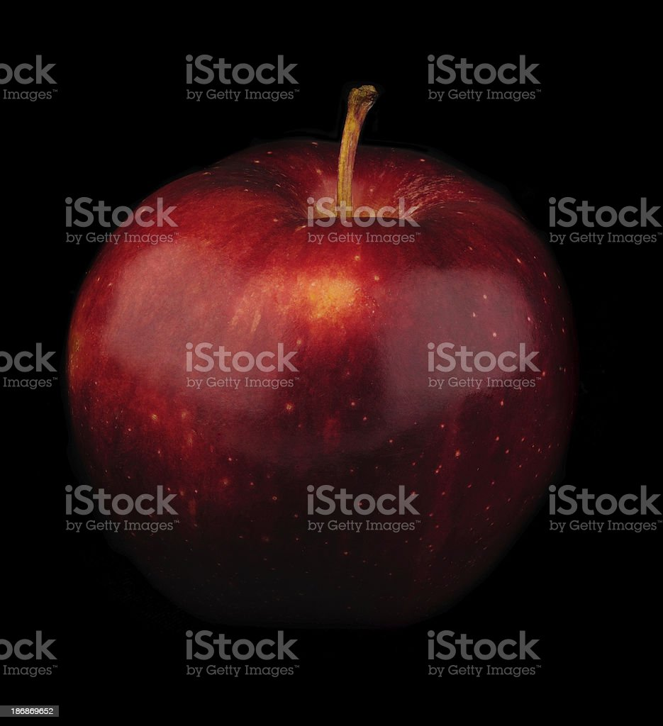 Red Apple on Black royalty-free stock photo