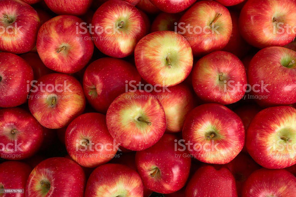 Red Apples At Market stock photo
