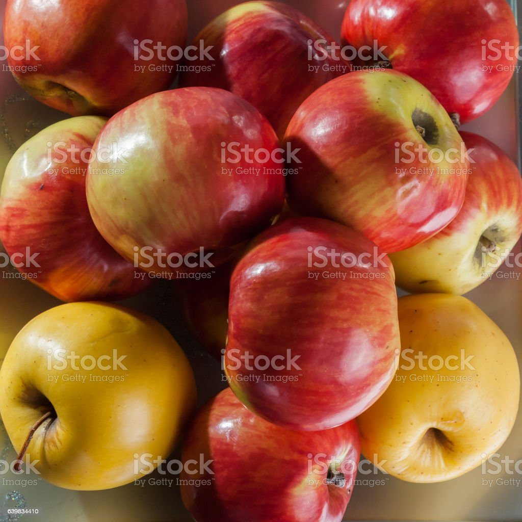 Red apples background stock photo