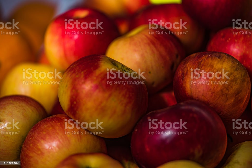 Red Apples in the market stock photo