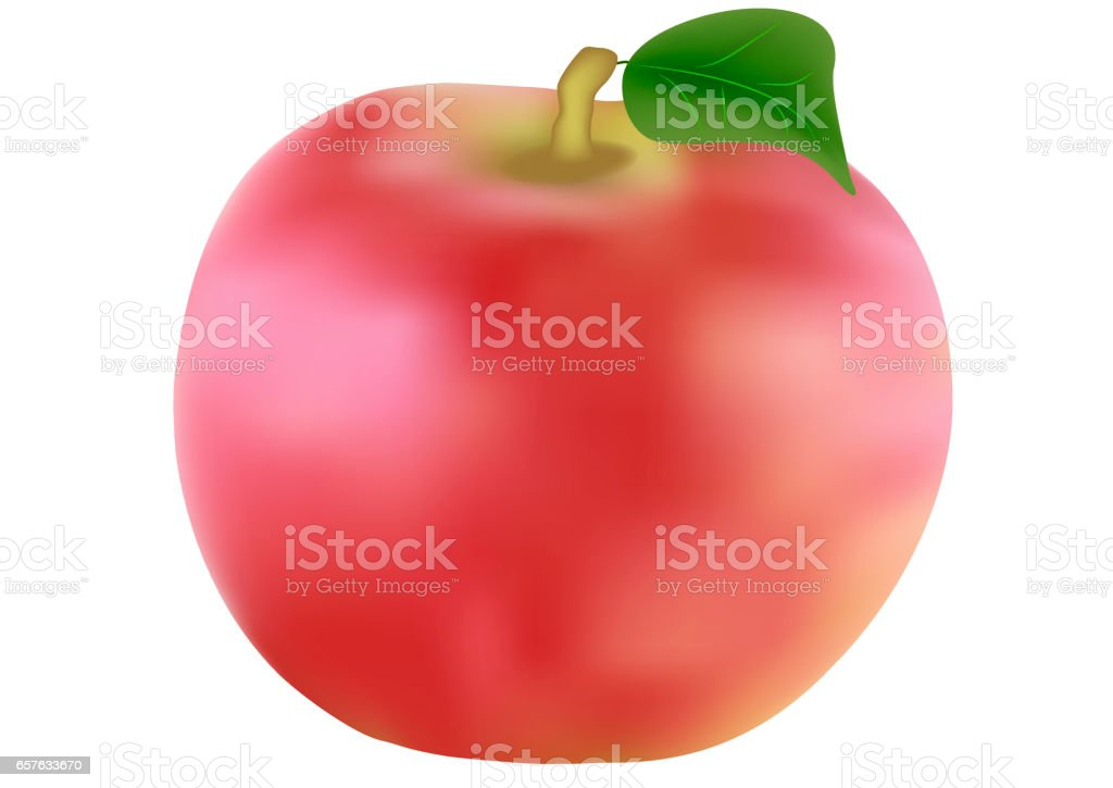 Red apples isolated on white stock photo