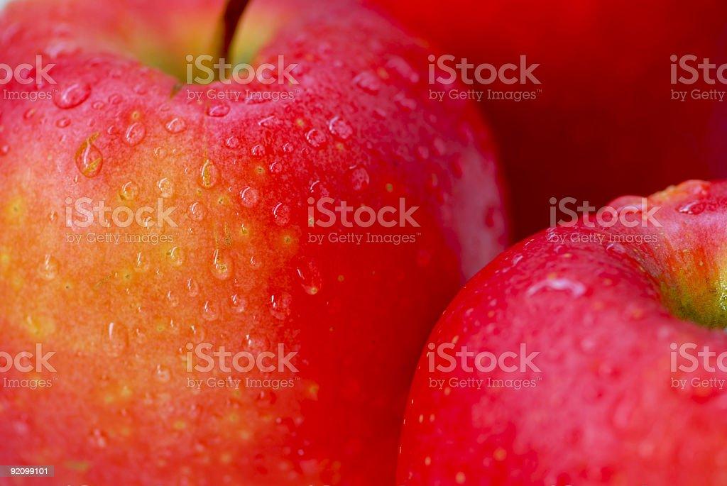 Red apples macro stock photo