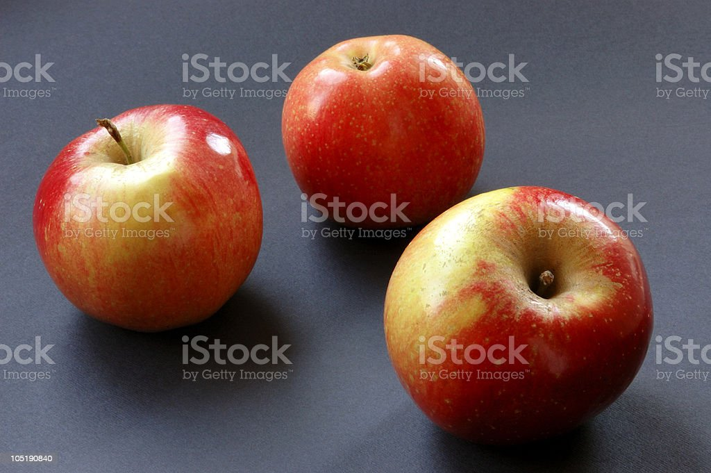 Red apples on black royalty-free stock photo