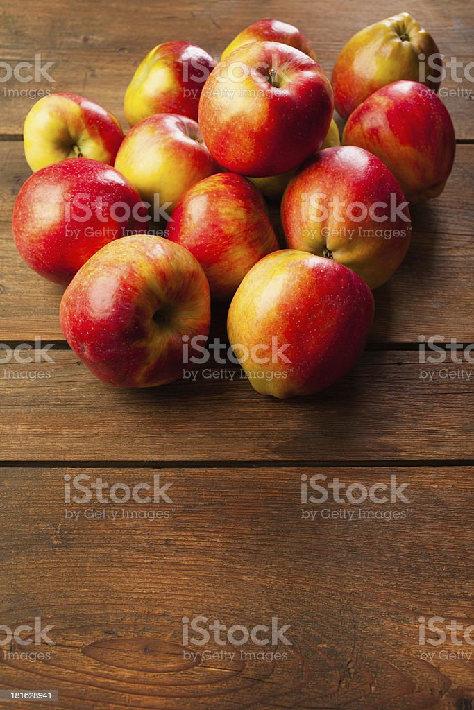Red apples on table royalty-free stock photo