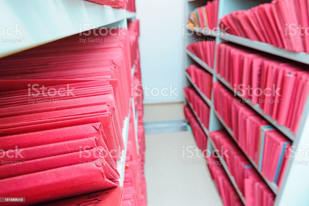 Red Archive royalty-free stock photo