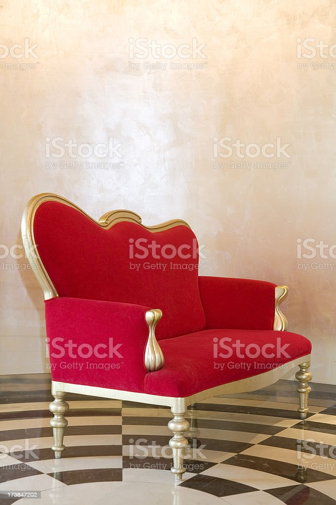 Red Armchair royalty-free stock photo