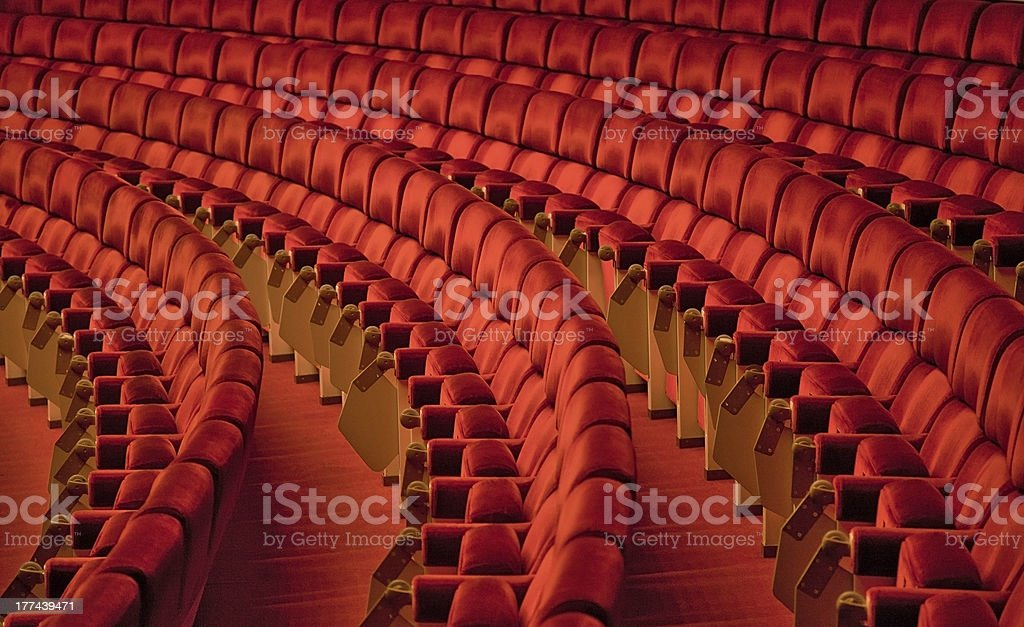red armchairs rows royalty-free stock photo