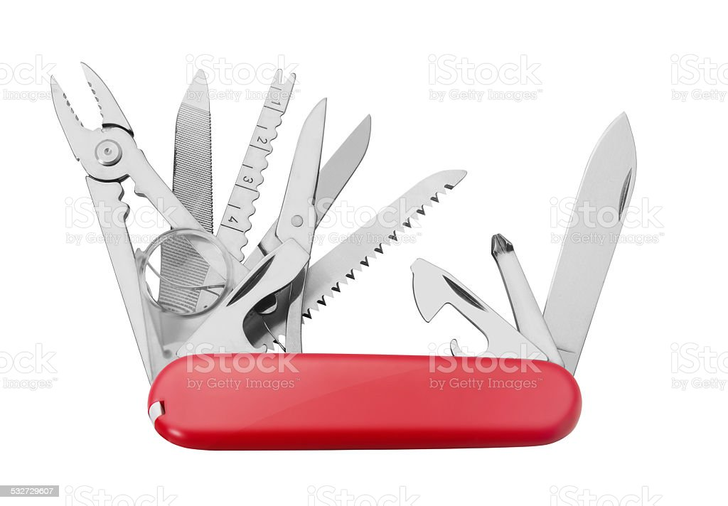 Red Army Knife multi-tool stock photo