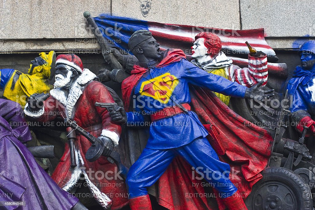 Red Army Soldiers Gone Superhero royalty-free stock photo
