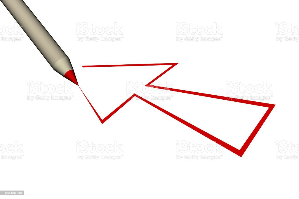 red arrow draw royalty-free stock photo